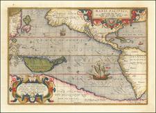 Maris Pacifici quod vulgo Mar del Zud By Abraham Ortelius