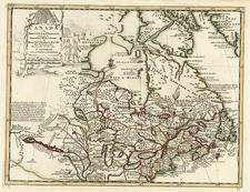 New England, Midwest and Canada Map By Johannes Covens  &  Cornelis Mortier