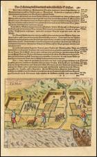 Chile Map By Theodor De Bry / Matthaus Merian