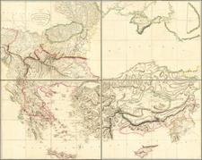 Ukraine, Romania, Bulgaria, Greece, Turkey and Turkey & Asia Minor Map By Aaron Arrowsmith