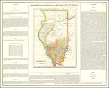 Illinois Map By Henry Charles Carey  &  Isaac Lea