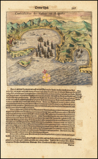 Mexico Map By Theodor De Bry / Matthaus Merian