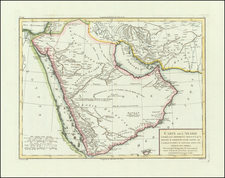 Middle East and Arabian Peninsula Map By Pierre Antoine Tardieu
