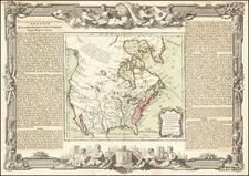 Southwest and North America Map By Louis Brion de la Tour