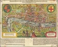 British Isles, England and London Map By Sebastian Munster