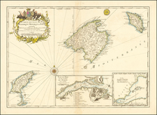 Balearic Islands Map By Jacques Nicolas Bellin