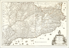 Spain Map By Le Pere Placide de St. Helene
