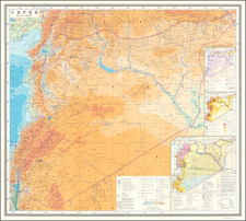 Middle East Map By Main Directorate of Geodesy and Cartography