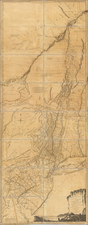 New England, Vermont, New York State, Mid-Atlantic, New Jersey and Canada Map By Sayer & Bennett