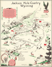 Wyoming and Pictorial Maps Map By Hopkinson