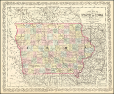 Iowa Map By Charles Desilver