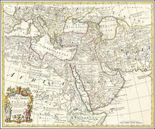 A Map of Turky, Arabia And Persia.  Corrected from the latest Travels . . . 1719 By John Senex