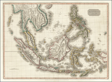 Southeast Asia, Philippines, Indonesia, Malaysia and Thailand, Cambodia, Vietnam Map By John Pinkerton