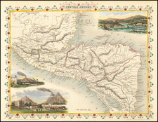 Central America Map By John Tallis