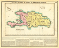 Hispaniola Map By Henry Charles Carey  &  Isaac Lea