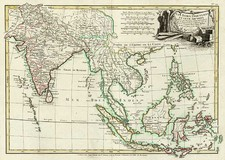 Asia, India, Southeast Asia, Philippines, Australia & Oceania and Oceania Map By Jean Lattré