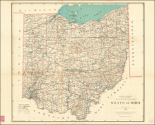 Ohio Map By U.S. General Land Office