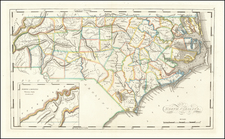 North Carolina Map By Mathew Carey / Mathew Carey