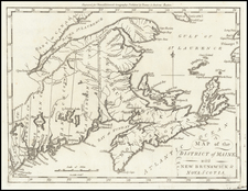 Maine and Canada Map By Samuel Morse