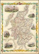 Scotland Map By John Tallis