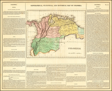 Colombia and Venezuela Map By Henry Charles Carey  &  Isaac Lea