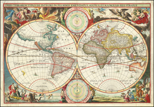 World Map By Cornelis II Danckerts