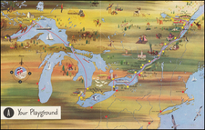 Midwest, Michigan and Canada Map By Canada Steamship Lines
