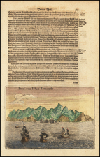 Chile Map By Theodor De Bry / Matthaeus Merian