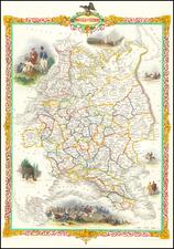 Russia and Ukraine Map By John Tallis