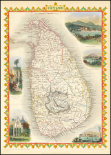 India and Sri Lanka Map By John Tallis