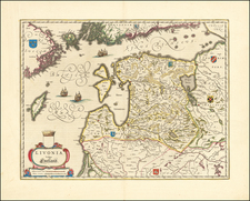 Baltic Countries Map By Willem Janszoon Blaeu