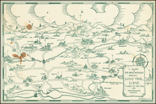 New Hampshire, Vermont and New York State Map By J.  T. Rulison