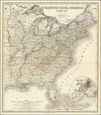 United States Map By Heinrich Kiepert / C. Poppey