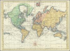 A Mercator Chart of the World By Thos. Bowen  By Thomas Bowen