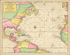 Atlantic Ocean and United States Map By Pierre Mortier