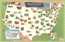United States and Pictorial Maps Map By M. E. Bush