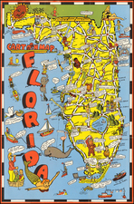 Florida Map By Bill Skacel