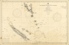 Oceania Map By U.S. Hydrographical Office