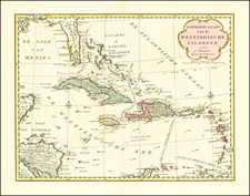 Florida and Caribbean Map By Isaak Tirion