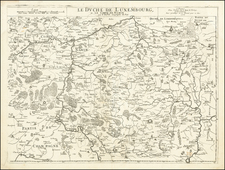 Belgium and Luxembourg Map By Pierre Du Val