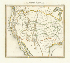 Texas, Plains, Southwest, Utah, Rocky Mountains, Utah and California Map By Ernst & Korn