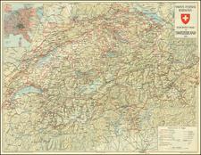 Switzerland Map By Kummerly & Frey's Geographical Establishment