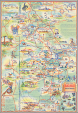 South Dakota and Pictorial Maps Map By K. Pyle