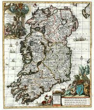 Ireland Map By Johannes Covens  &  Cornelis Mortier