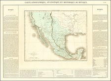 Texas, Southwest, Rocky Mountains, Mexico and California Map By Jean Alexandre Buchon