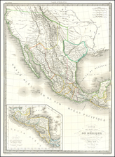 Carte Des Etats-Unis Du Mexique…1838   [Republic of Texas] By Alexandre Emile Lapie