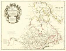 Midwest, Plains, Rocky Mountains and Canada Map By Guillaume De L'Isle