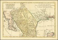 Texas, Southwest, Mexico and Baja California Map By Rigobert Bonne