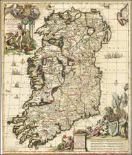 Ireland Map By Carel Allard