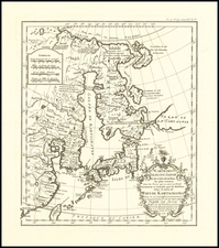 China, Japan, Korea and Russia in Asia Map By Jean-Baptiste Bourguignon d'Anville